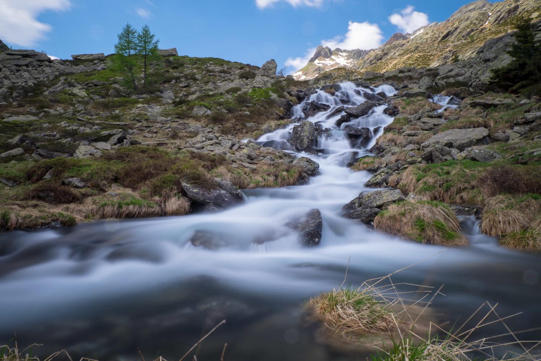 Langzeitbelichtung Flusslauf