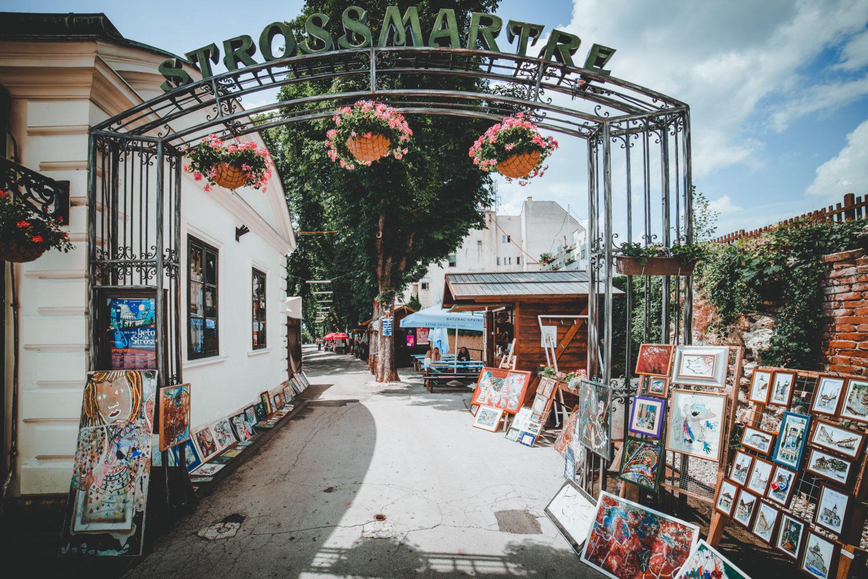 Eingang zum Strossmartre in Zagreb