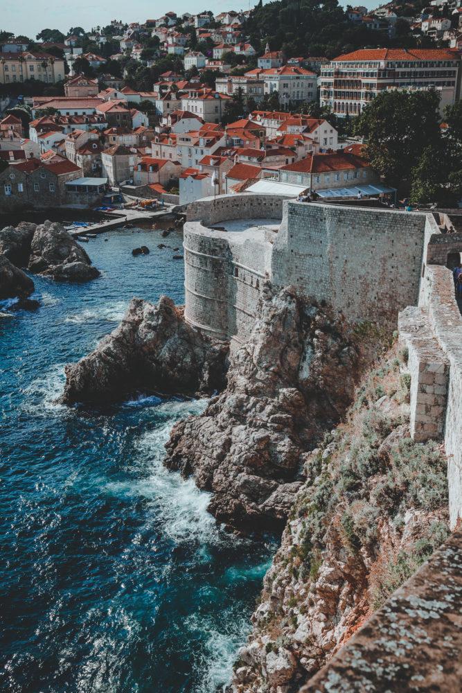 Stadtmauer von Dubrovnik in Kroatien