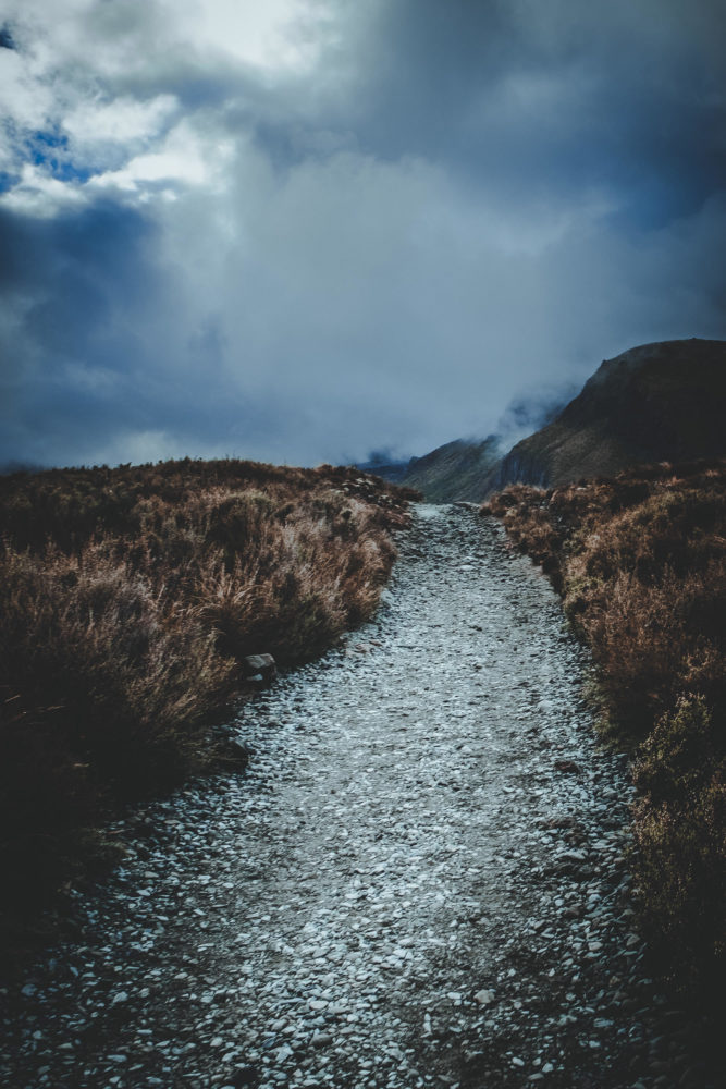 Wanderweg beim Tongariro Alpine Crossing