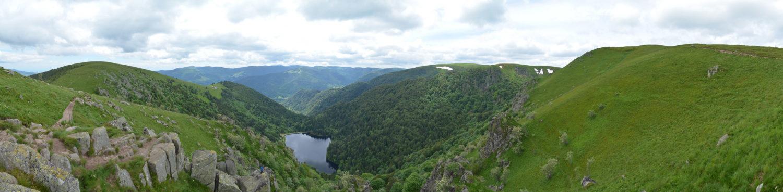 Blick auf den Lac de Schiessrothried in den Vogesen