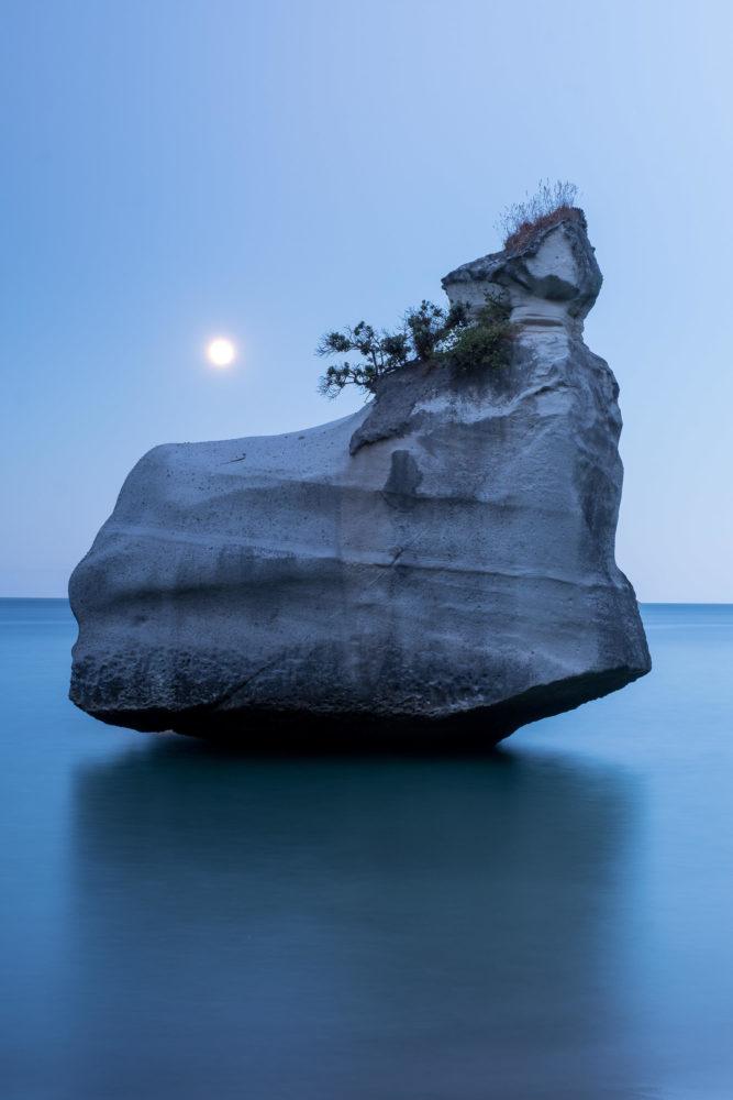 Sonnenuntergang über Felsen