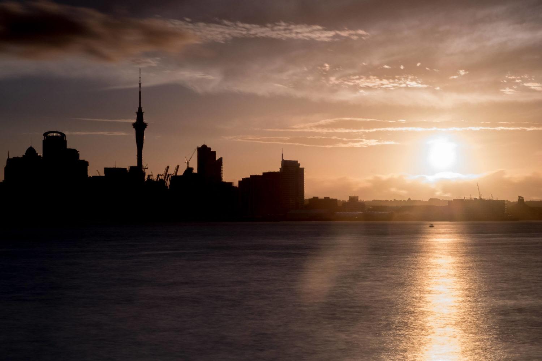Sonnenuntergang in Auckland Neuseeland