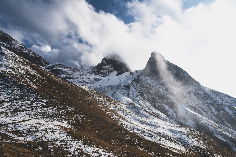 Berge in der Nähe der Rappenseehütte