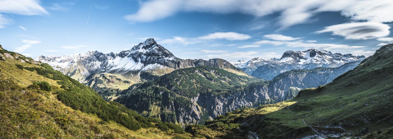 Panorama Berglandschaft in den Allgäuer Alpen