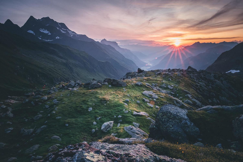 Sonnenaufgang an der Bremer Hütte