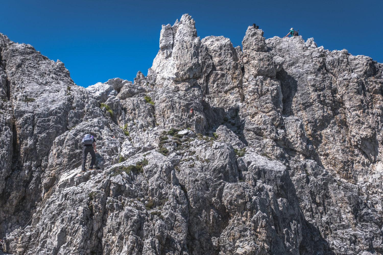 Aufstieg zum Gipfel der Elferspitze