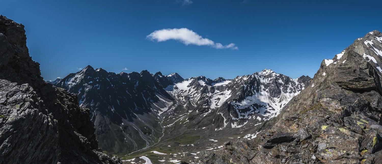 Panorama der Berge rund um das Westfalenhaus
